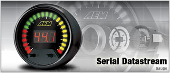 AEM serial gauge works with the 3000GTs EMS/ECU