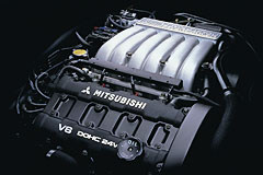 6G72 twin turbo engine
