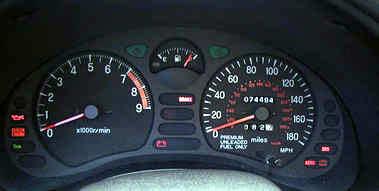 Gauges on Exhaust Camshaft Position Sensor
